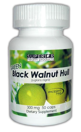 Green Black Walnut Hull Freeze Dried Capsules