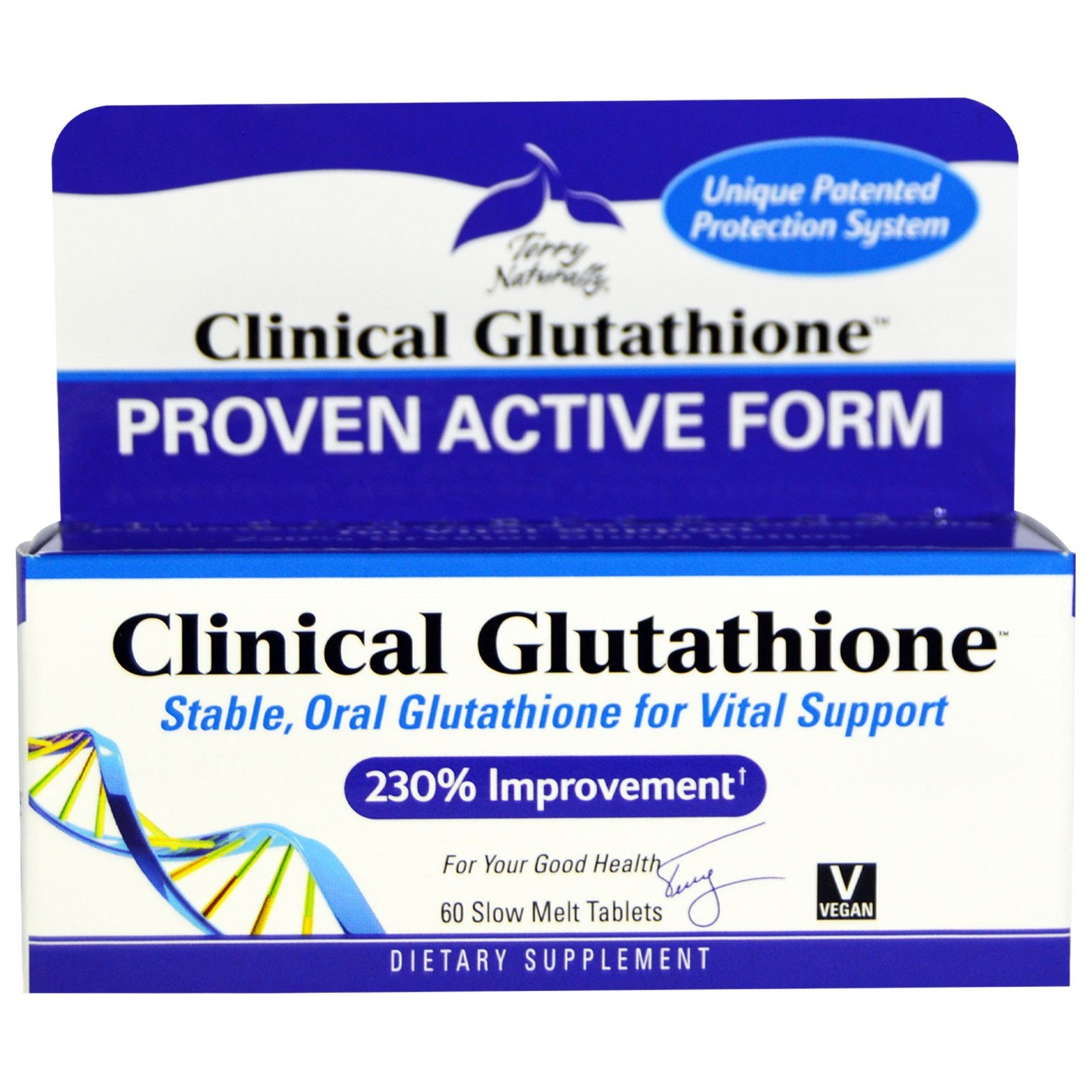 Terry Naturally - Clinical Glutathione - 60 Slow-Melt Tabs